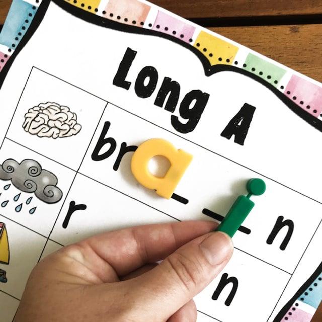 practice 1st grade spelling Long A Words