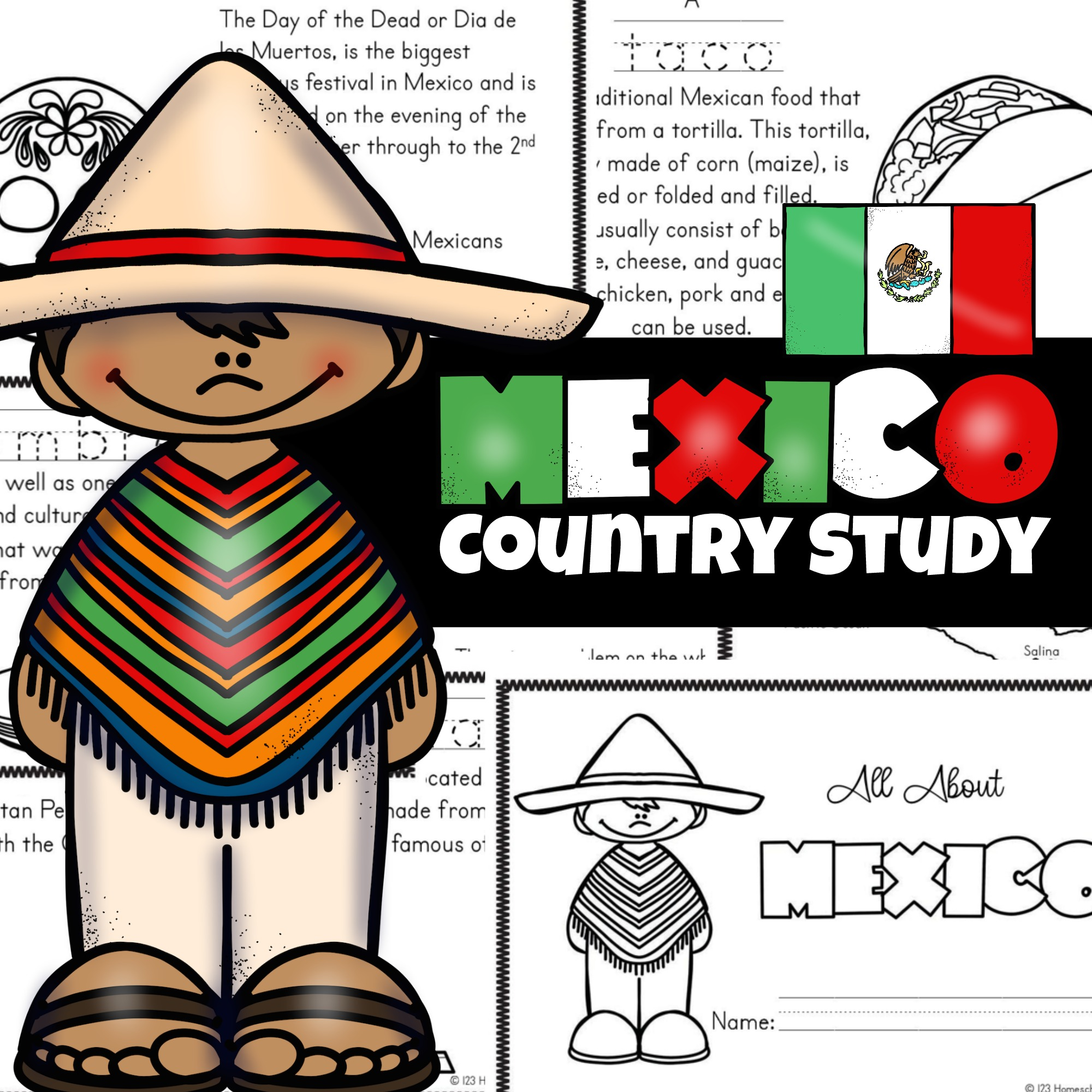 Free Printable Mexico For Kids Worksheets