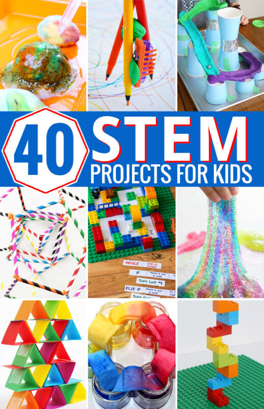 Keep the kids happily learning all year long with these awesome hands on STEM projects for Kids. STEM stands for science, technology, engineering and math, and the best STEM projects include one or more of these learning areas as part of fun projects and learning activities for kids. We have rounded up a huge number of STEM ideas for pre k, kindergarten, first grade, 2nd grade, 3rd grade, 4th grade, 5th grade students.