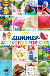 Whether you are planning your summer bucket list ideas ahead of time or looking for last-minute summer activities for kids to try right now, we've over 100 EPIC summer camp activities for kids. He have summer fun for kids from toddler, preschool, pre-k, kindergarten, first grade, 2nd grade, 3rd grade. and up. Whether you are looking for cutesummer crafts, engaging preschool summer activities, super cool summer science,or summer activities for toddlers - we've got you covered! Plus you can grab our summer bucket list printable to keep on hand and check off thefun summer activities you've tried.