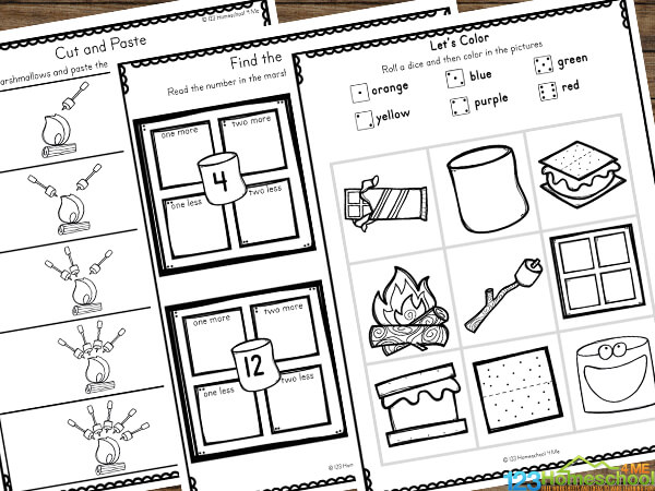 Summer Math Worksheets for Kindergarten