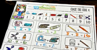 Celebrate Back to School with a fun math activity! These Crack the Code Worksheetsmake practicing addition and subtraction fun for kindergarten and first grade students.
