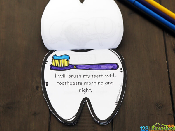 color the cute toothbrush, teeth, dentist, and dental clipart and learn about taking care of my teeth with this fun, dental activities for preschoolers