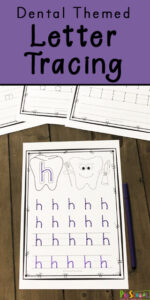 dental theme letter tracing