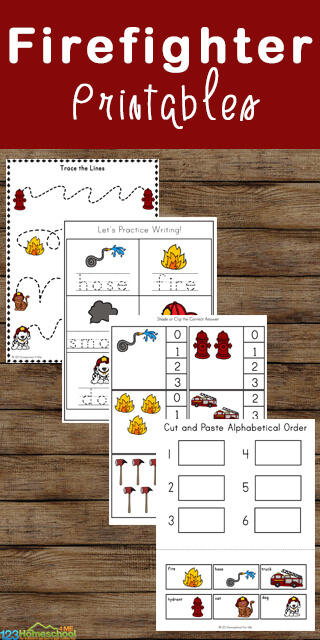fire fighter worksheets