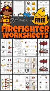 Free Firefighter Worskheets