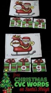 Christmas Santa CVC Words Activities