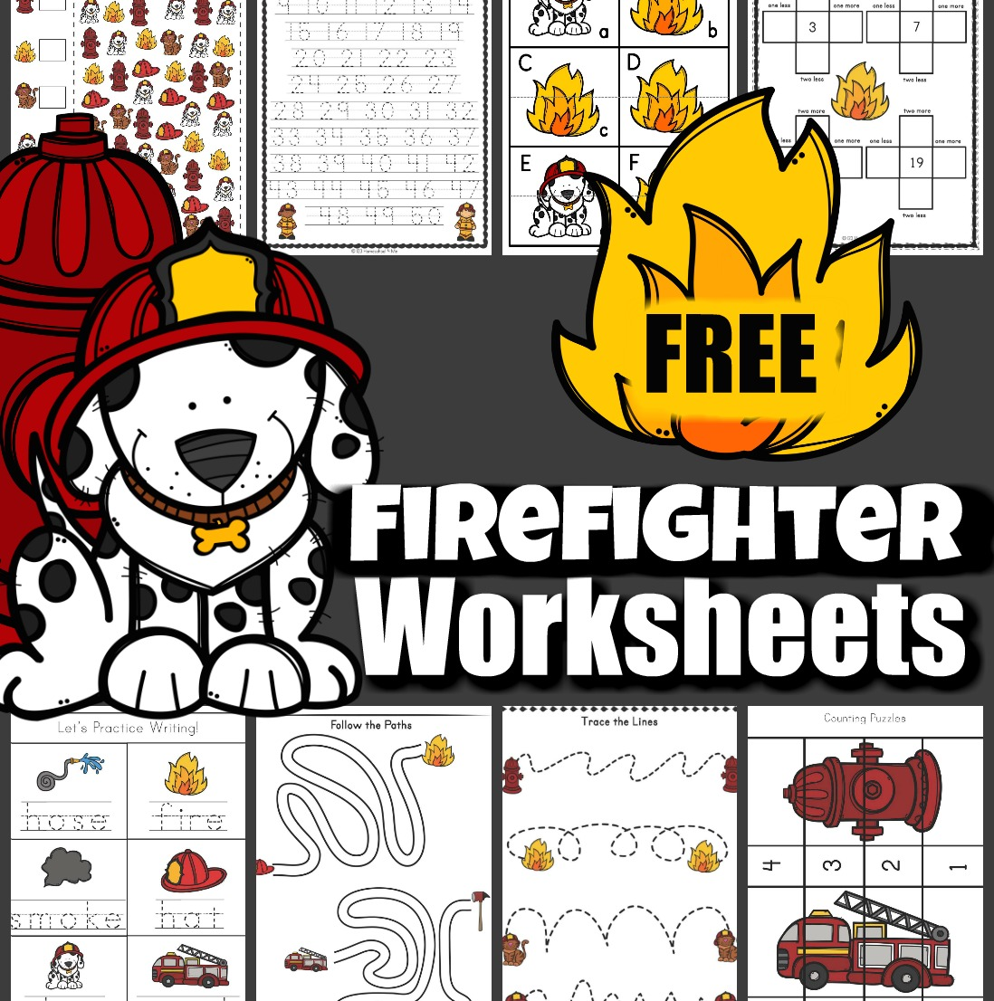 free firefighter worksheets