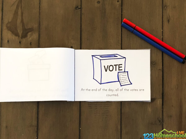 free printable Election Reader for kids