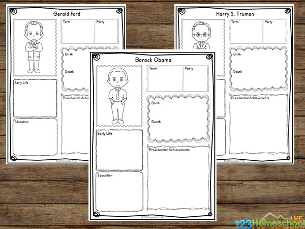 free printable presidents day worksheets for elementary age kids