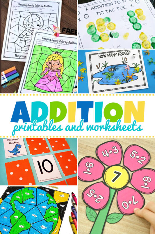 Addition Printables and Worksheets