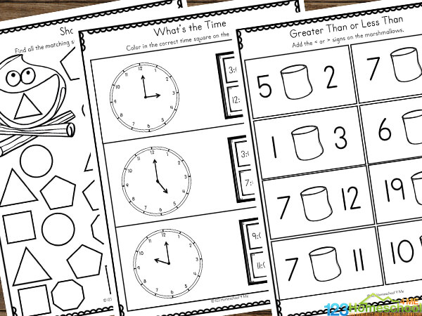 summer math for kindergartners