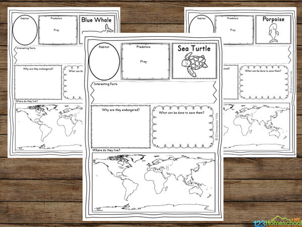 Endangered Animals Printables