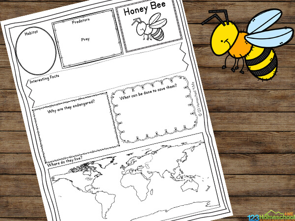 free endangered animal worksheets for kids