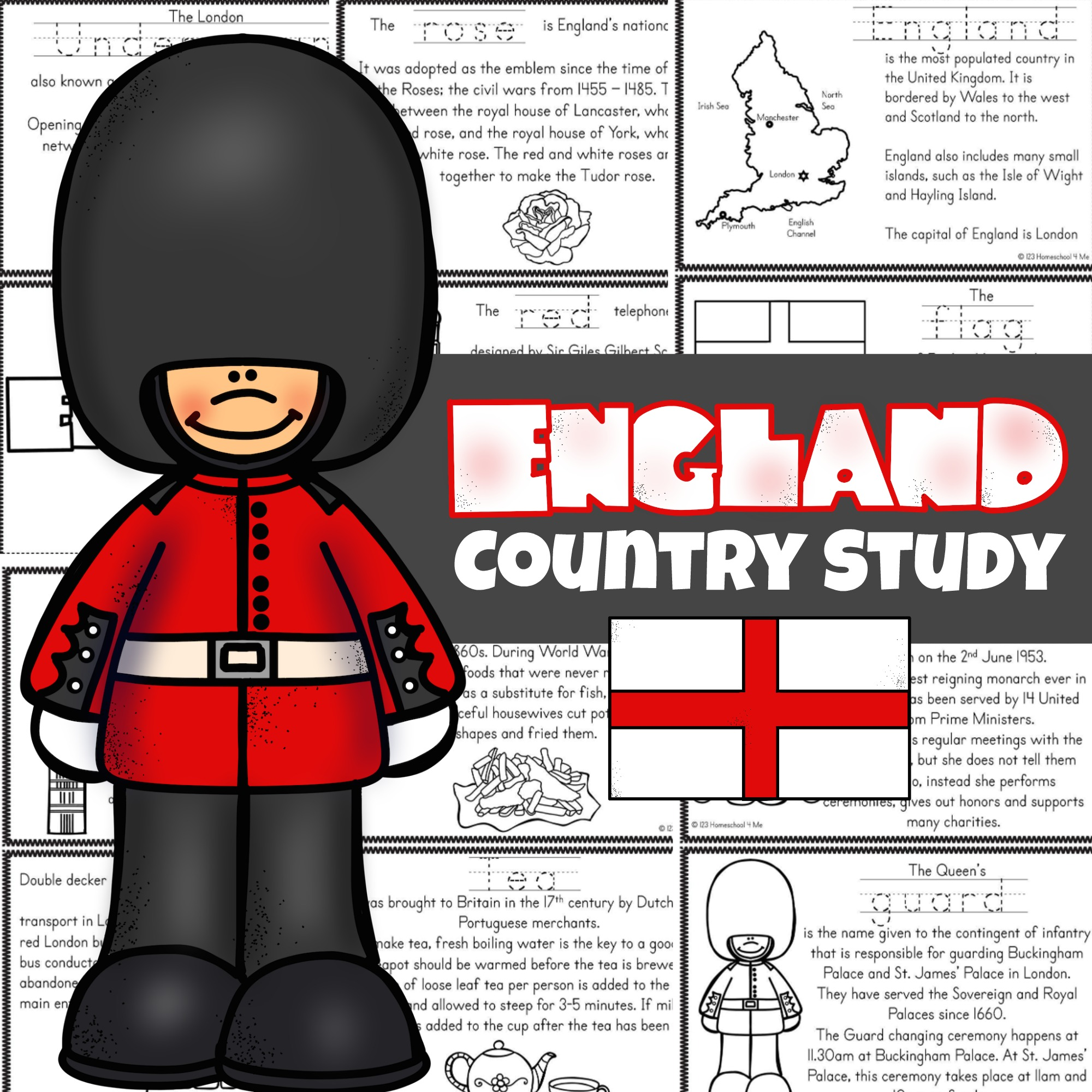 Free England For Kids Printable Reader To Color Read And Learn