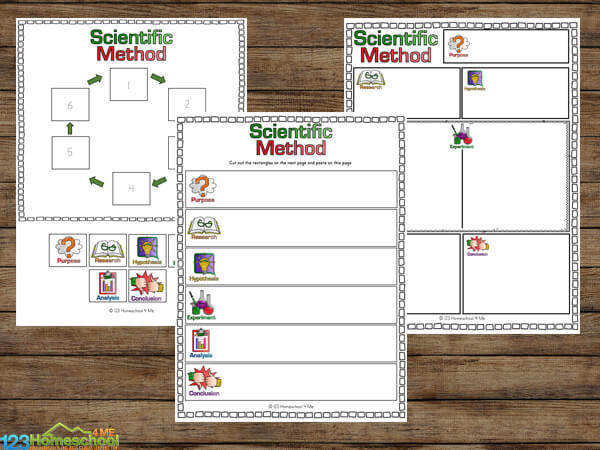 Science Cut and Paste Worksheets