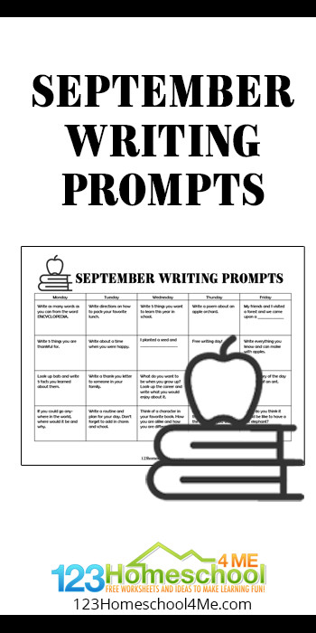 Take the work out of having kids practice writing with these no prep, free printable,September Writing Prompts. Kindergarten, first grade, 2nd grade, 3rd grade, and 4th grade students will love the convenience of our writing prompt calendar filled with creative writing ideas for every day of the week. This is such a easy way to help kids practice forming sentences, spelling words correctly, and formulating their thoughts!