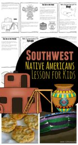Kids will have fun learning about the indigenous people of North American with this fun, hands on, history for kids lesson. We've included recipes, crafts, free printables and more so you can studySouthwest Native Americans for Kids from preschool, pre k, kindergarten, first grade, 2nd grade, 3rd grade, 4th grade, 5th grade, and 6th grade students.