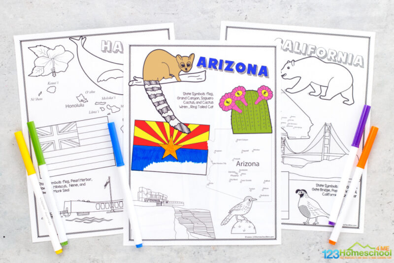 United states coloring page pdf -