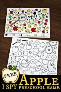 i spy apple worksheets