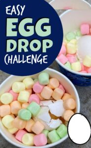 Have you heard of the egg drop challenge? My daughter has been begging to do it for months. I don't know why we didn't do it sooner. Well, I do. I thought it was going to make a giant mess that I would end up cleaning up but I was totally wrong. It was basically no mess at all. I will even say this Egg Drop Challenge was so much fun! Try this egg drop project with preschool, pre k, kindergarten, first grade, 2nd grade, 3rd grade, and 4th grade students for a fun, hands-on science project for kids.