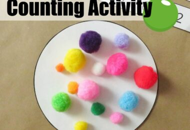 This super clever, hands-on math activity is lots of FUN for toddler, preschool, pre k, and kindergarten age students! Use colorful pom poms, marbles, playdough balls, or actual candy gumballs with our gumball machine free printable for a sweet counting activity. Candy-lovers everywhere, unite and count to 20!