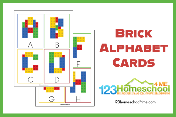 Super cute lego printables for toddlers, preschoolers, pre k, and kindergartners to practice alphabet letters
