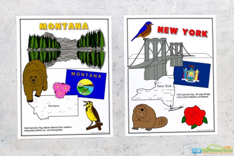 united states printables for kids