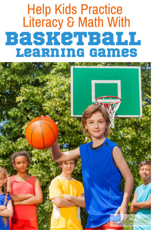 how to practice literacy and math skills with basketball