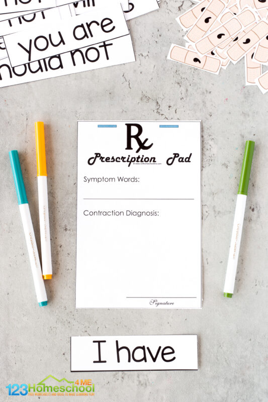 Contraction Games Printable