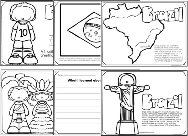 brazil coloring pages