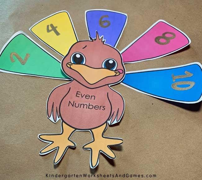 free turkey math printable