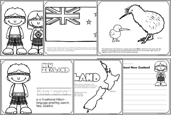 new zealand coloring pages