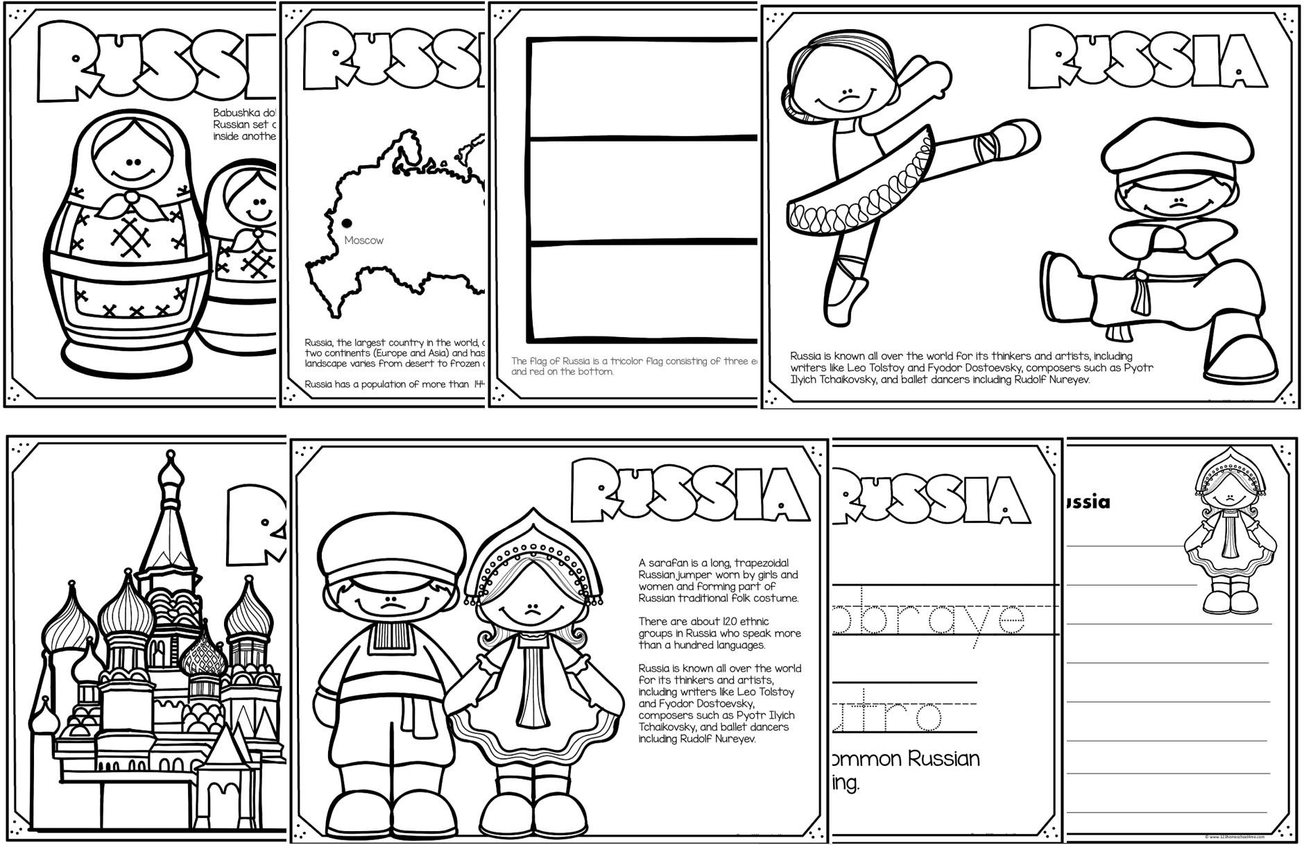 Read Color Learn Country Coloring Pages