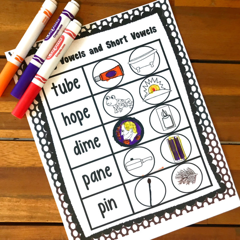 silent e worksheets for first grade students