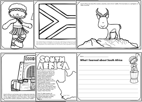 south africa coloring pages