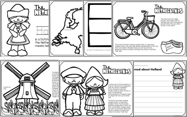 the netherlands coloring pages