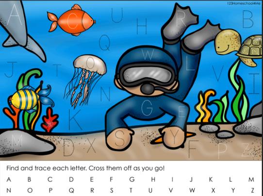 trace the alphabet