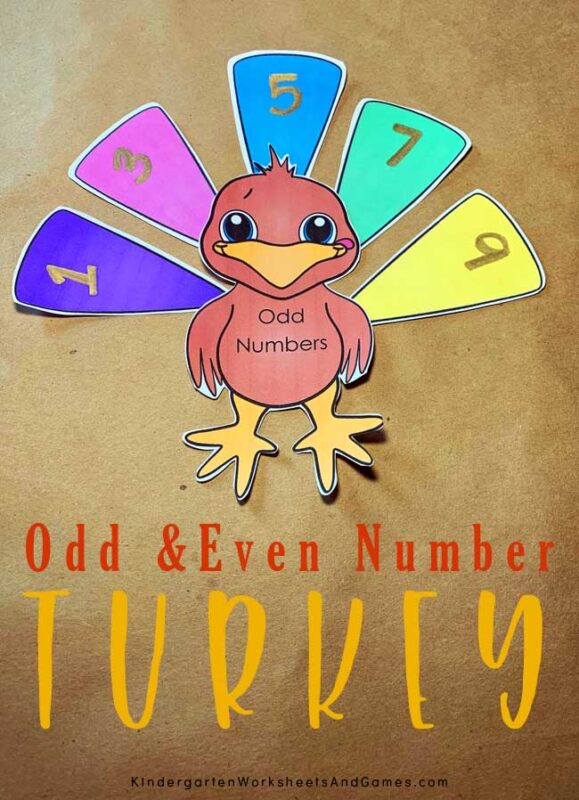 Sneak in a fun, educational math game this November with this super cute, free printableturkey math activity! Download pdf file, print and sort the feathers with your kindergarten, first grade, and 2nd grade students. This is such a fun idea forteaching odd and even numbers.