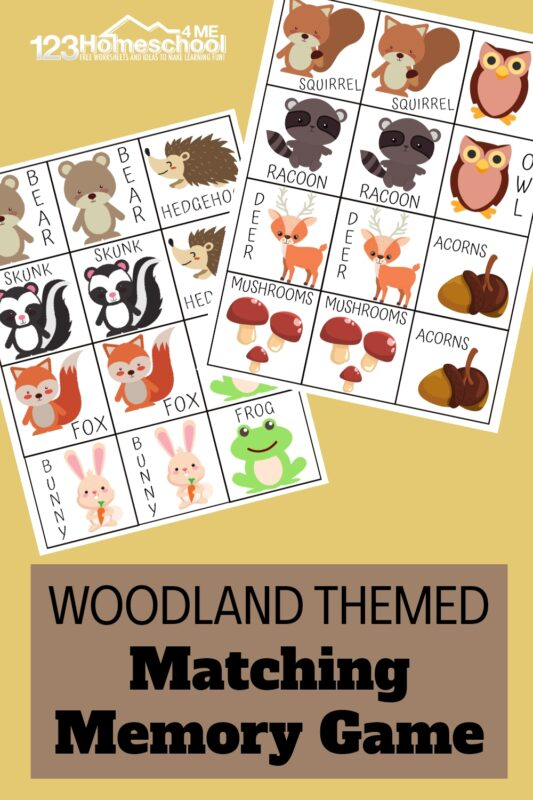 If you're looking for a fun animal themedlearning game to play with your kids, you will love this fun Animal Matching Game that helps children work on visual discrimination and improving their memory skills! This free printable memory game animals is such a playful way to learn with toddler, preschool, pre-k, kindergarten, and first grade students. This animal matching is sure to be a hit as kids match the adorable animal pairs! Download pdf file with Animal matching game printable and get ready for some fun.