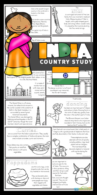 Kids will love learning about India for Kids with these Free India Printable Mini Books. These worksheets to color, learn and read are filled with India facts and information for kindergarten, first grade, 2nd grade, 3rd grade, 4th grade, 5th grade, and 6th grade students.