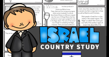 Kids will love learning about Israel for Kids with these Free Israel Mini Books. These worksheets to color, learn and read are filled with Iranian facts and information for kindergarten, first grade, 2nd grade, 3rd grade, 4th grade, 5th grade, and 6th grade students.