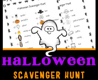 Instead of the traditional trick and treat this Halloween, why not try something a little different. You can still get outside and have funwalking around the neighborhood, getting some exercise, while searching for different Halloween related items such as spiders, bats, cats, as part of this free printable Halloween Scavenger Hunt. This Halloween Scavenger Hunt for Kids is perfect for toddler, preschool, pre-k, kindergarten, first grade, 2nd grade, and 3rd grade children.