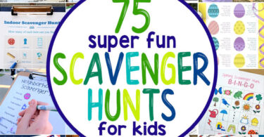 Are you ready for an EPIC list of kids scavenger hunt possibilities? Whether you are looking for a fun boredom buster idea, a way to get the kids outside, or something active to do when you are stuck inside, there is afun scavenger hunts for kids on this list that is perfect for every occasion! In fact, we have over 75 freescavenger hunt ideas for toddler, preschool, pre-k, kindergarten, first grade, 2nd grade, 3rd grade, 4th grade, 5th grade, and 6th grade students.