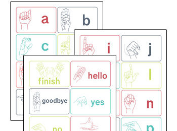 Help learn and review sign language with these super cute, free printable sign language flash cards. These ASL Flashcards are handy for kids of all ages from toddler, preschool, pre-k, kindergarten, first grade, 2nd grade, 3rd grade, and 4th grade students. Simply download pdf file with free printable flashcards and have fun practicing sigh language.