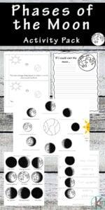 moon worksheets kindergarten