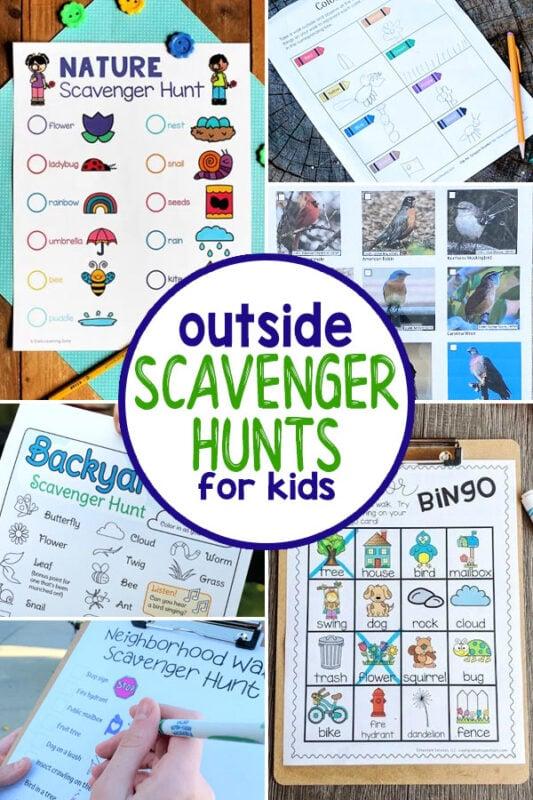 Outside Scavenger Hunts for Kids
