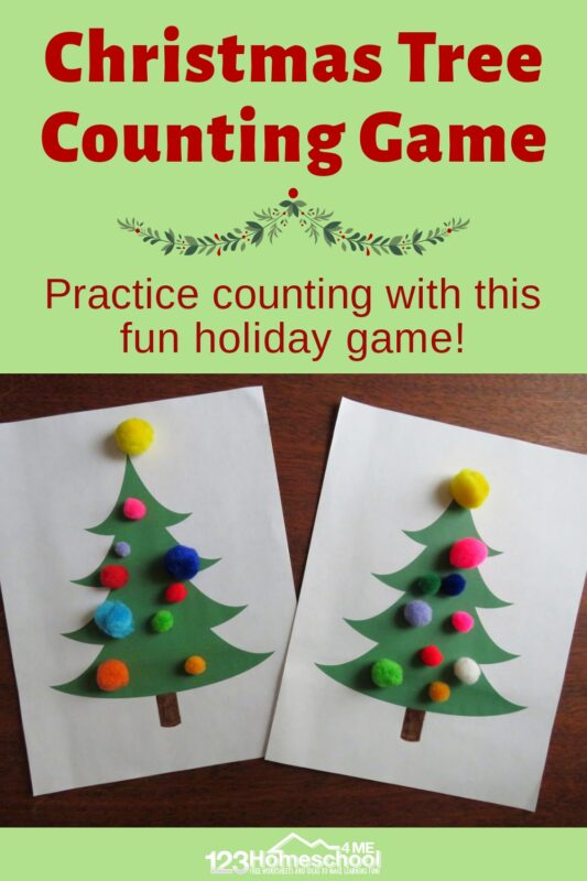 'Tis the season for merry games! If you are working on Christmas counting with your toddler, preschool, pre-k, or kindergarten age student this holiday season, you will love this fun Christmas tree printable math activity. Simply download the pdf file with the Christmas math printables Christmas Tree Counting Game will be perfect! It's a great way to learn while celebrating the best time of the year.