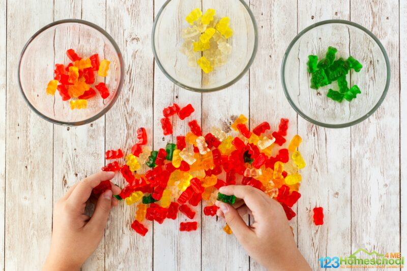 Edible slime recipe with gummy bears