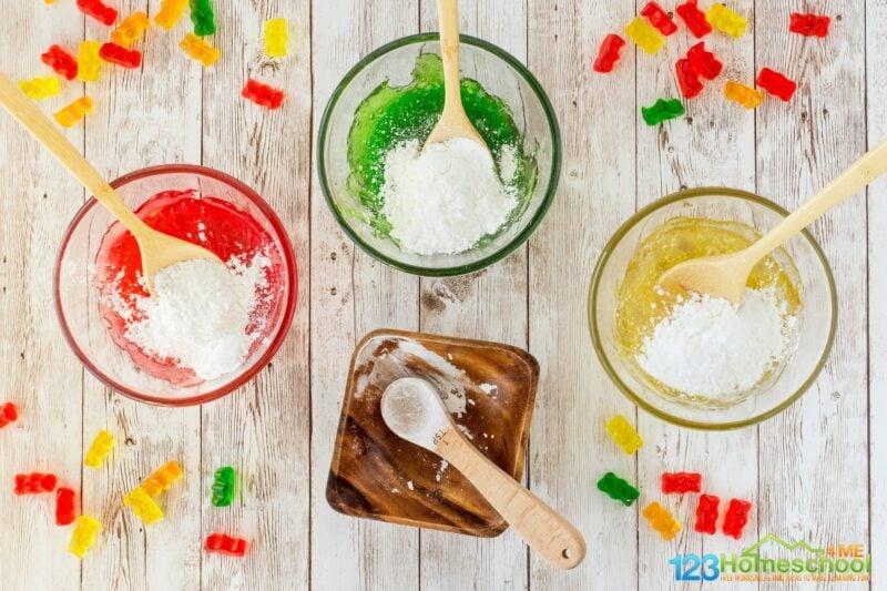 Gummy bear slime recipe
